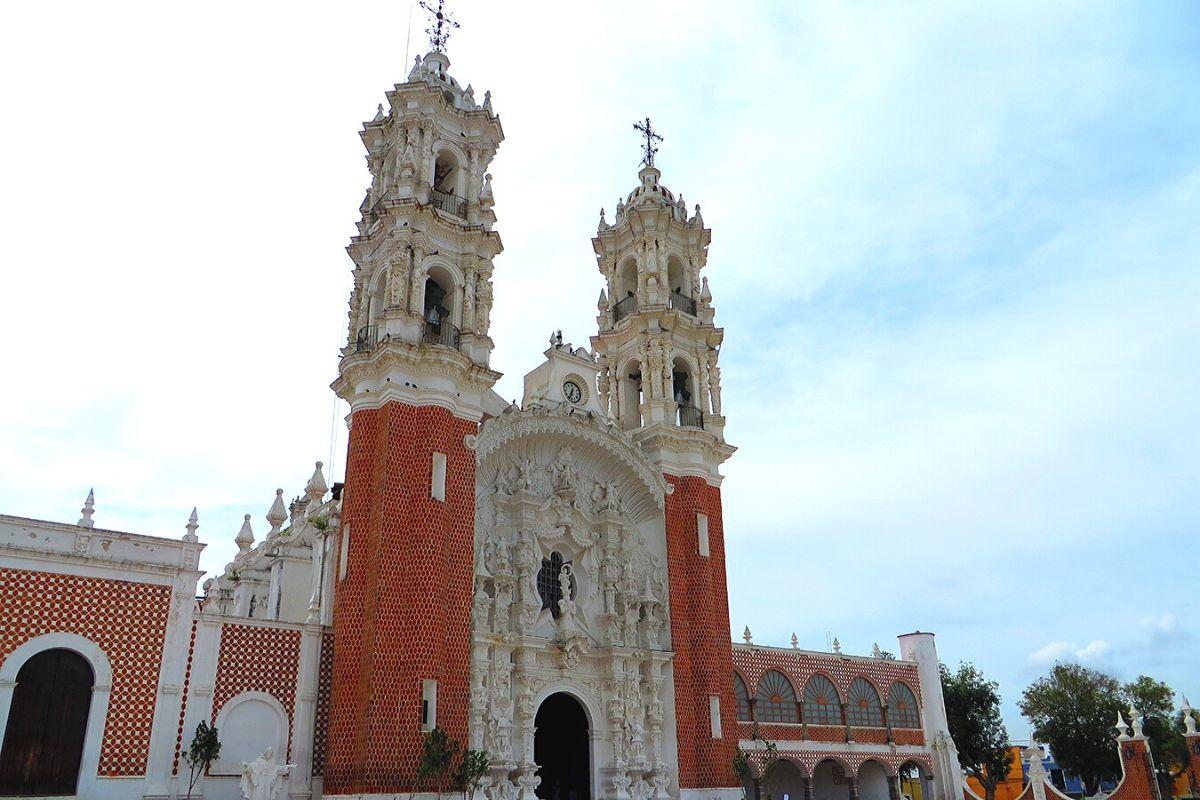 fachada de la basílica de nuestra señora de ocotlá